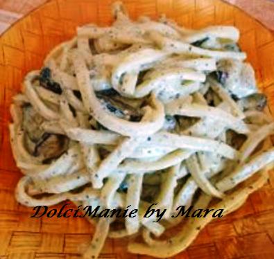 scialatielli con panna pesto e zucchine