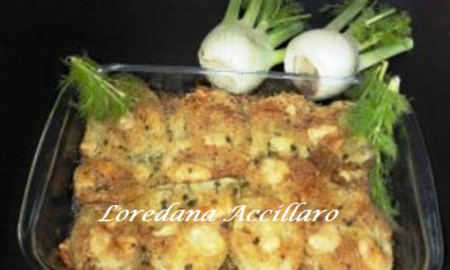 Finocchi gratinati al forno con panatura croccante