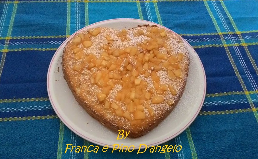Torta Cuore di Mela con Zucchero di canna