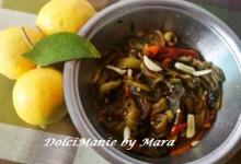 Peperoni arrostiti, conditi con olio e limone