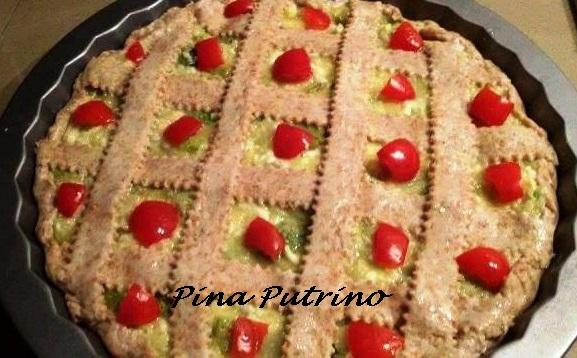 Crostata Salata Ripiena con Farina Semi Integrale