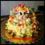 Torta Coniglietto Pasquale - con crema diplomatica