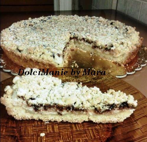 Torta Sbriciolata – Ricotta e Cioccolato Fondente