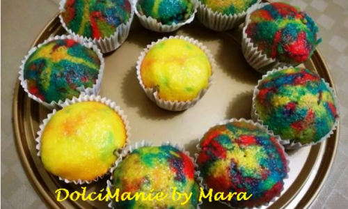 Muffin Arcobaleno – Rainbow Muffin