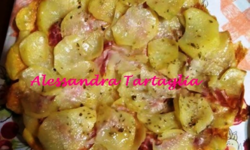 Tortino Di Patate Con Pancetta