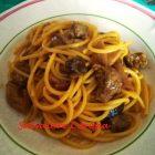 Spaghetti Con Funghi Salsiccia e Crema di Zafferano
