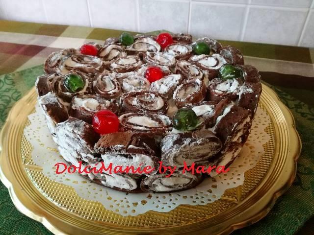 Torta di Crepes al Cioccolato con Ricotta e Panna