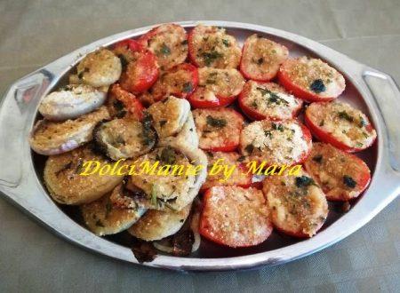 Pomodori e Cipolle Gratinate al Forno