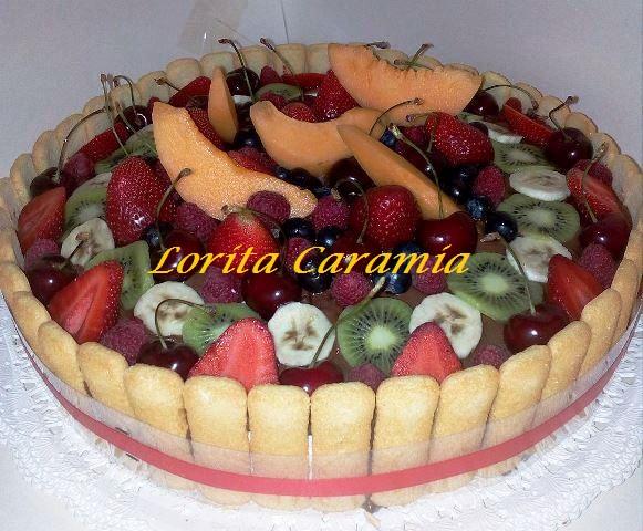 Torta Charlotte con Crema e Frutta