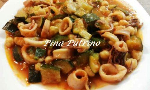 Zuppa di Calamari Ceci e Verdure