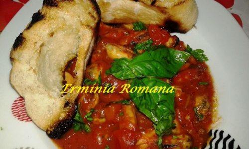 Zuppa di Cozze Piccante con Pomodorini