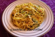 Tonnarelli con Zucchine e Salmone Affumicato