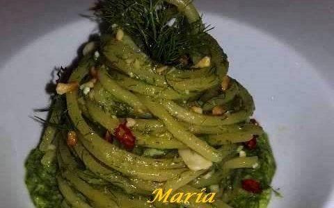 Spaghetti con Pesto di Finocchietto Selvatico