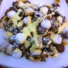 Tagliatelle di Crepes con Gelato alla Vaniglia
