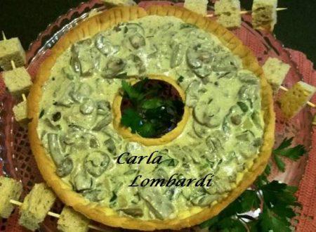 Ciambella di Pasta Brisè con Girotondo di Funghi