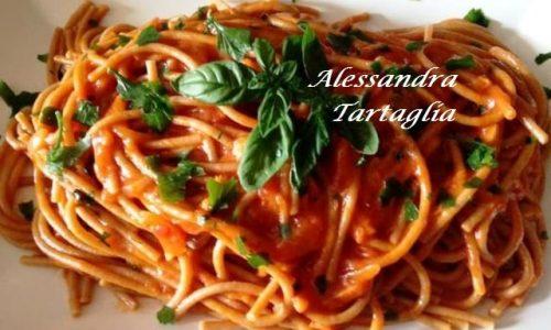 Spaghettoni Alla Crema di Peperoni