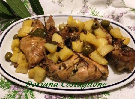 Coniglio alla Cacciatora con Patate