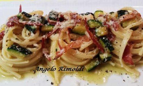 Nidi di Pasta con Zucchine e Culatello
