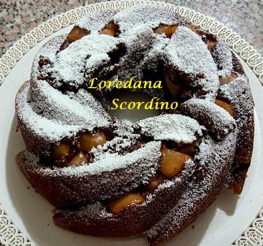torta al cioccolato cocco e pere