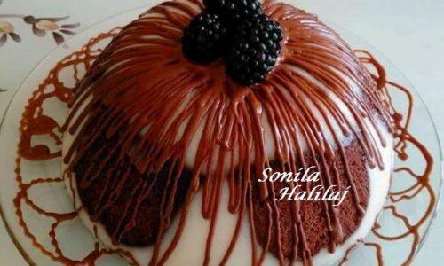 Budino con Plumcake al Cioccolato