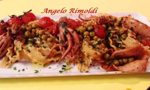 Mafaldine con Calamari e Piselli