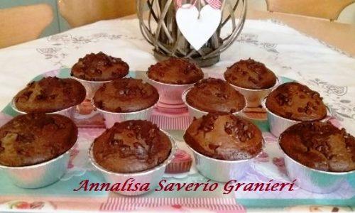 Muffin al Cacao con Cuore Fondente