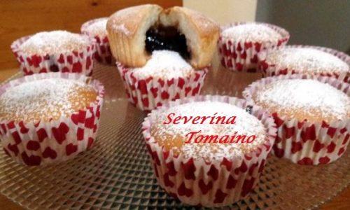 Muffin di Soli Albumi con Marmellata