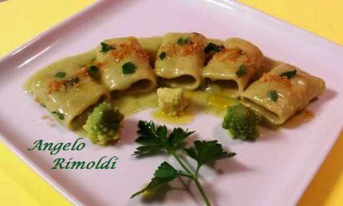 Paccheri con Broccolo Romano al Pepe Verde