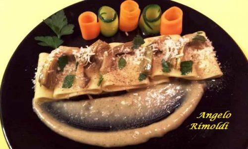 Paccheri con Carciofi Parmigiano e Acciughe