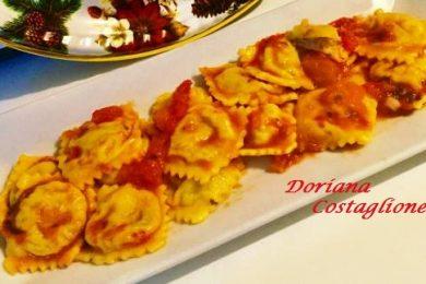 Ravioli Ripieni di Baccalà Gamberetti e Patate