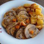 Rollè di Carne in Umido con Patate