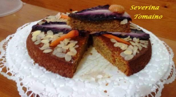 torta di radicchio carote e amaretti