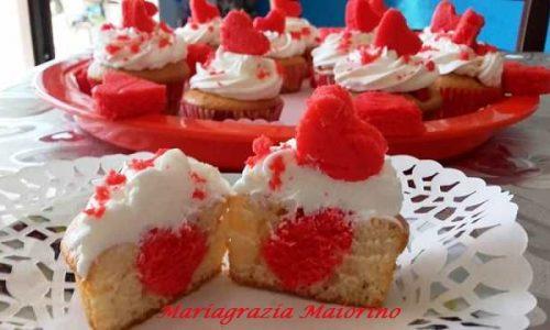 CupCake con Cuore di San Valentino