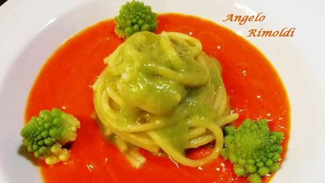spaghetti risottati con broccolo romano