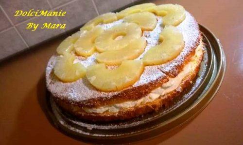 Torta con Crema di Latte e Ananas