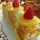 Rotolo con Panna Fragole e Ananas