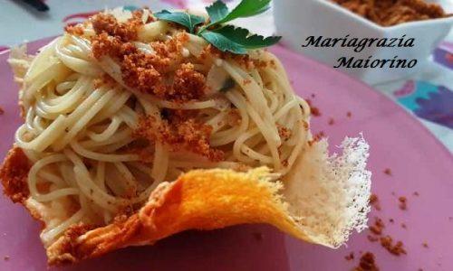 Spaghetti Carrettiera in Cestini di Parmigiano