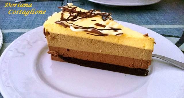 torta bavarese ai tre cioccolati