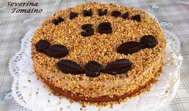 torta con mousse al cioccolato