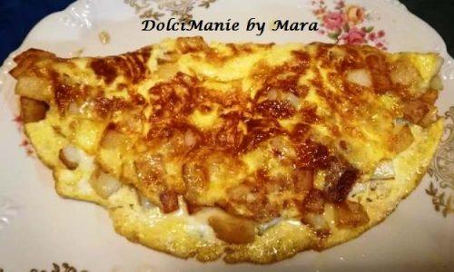Omelette con Patate e Mozzarella