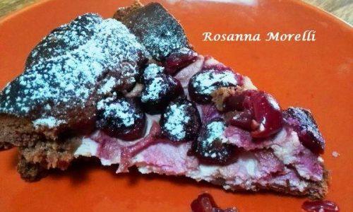 Crostata al Cacao con Ricotta e Ciliegie