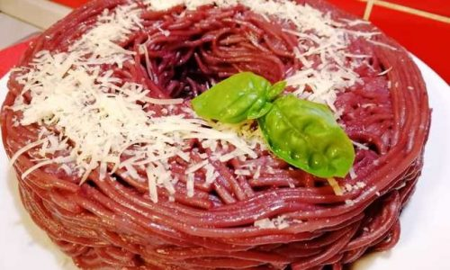Tortino di Spaghetti Risottati al Lambrusco