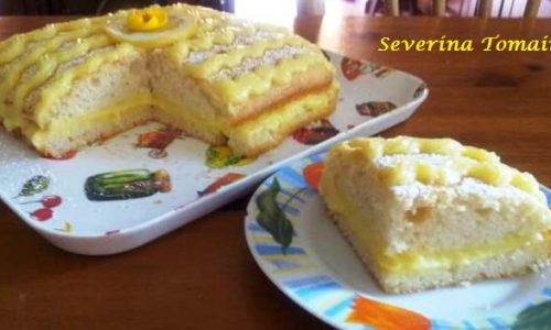 Torta all'Acqua con Crema al Limone