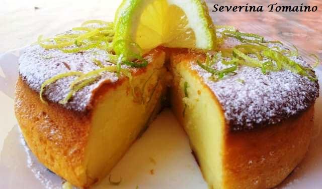 torta budinosa al limone
