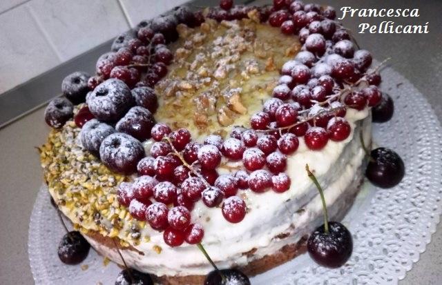 torta nuda con crema pasticcera al mascarpone