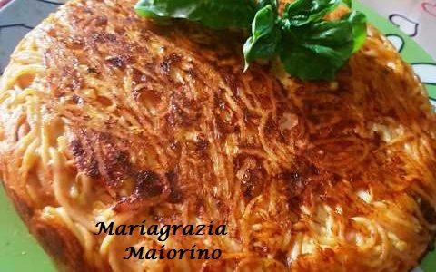 Frittata di Spaghetti con Scamorza Dolce