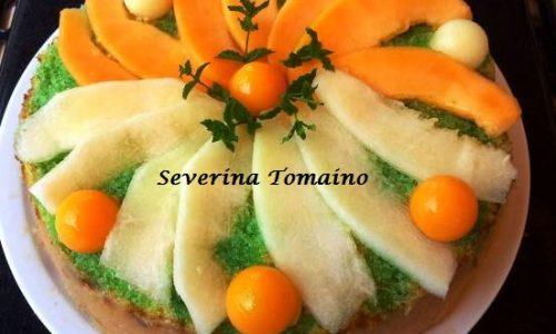 Torta alla Menta con Crema al Melone