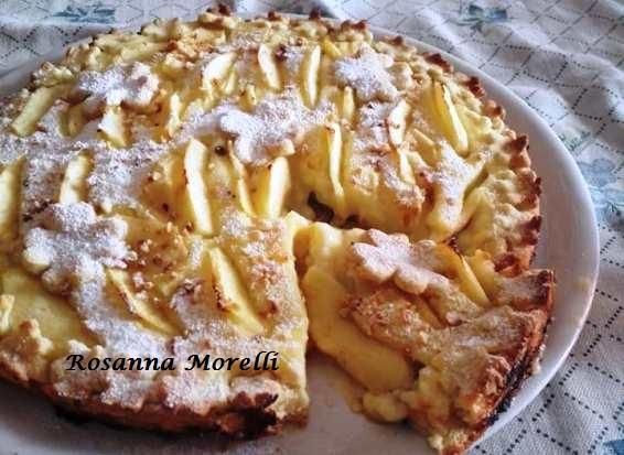 crostata con marmellata e crema pasticcera