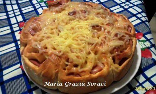 Pan Brioche con Wurstel e Pasta Filata