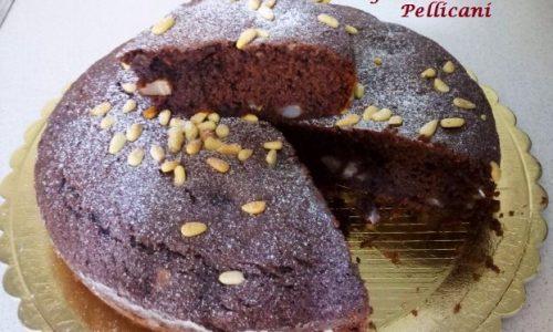 Torta con Farina di Mandorla Pere e Cacao